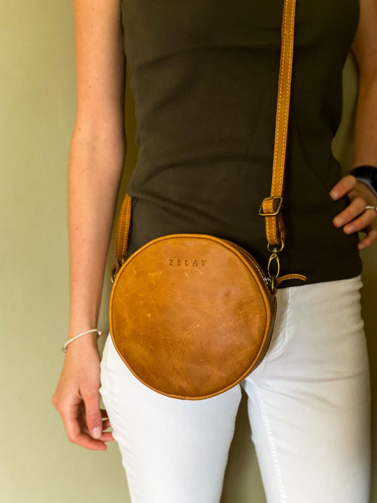 Round Crossbody Clutch Handbag